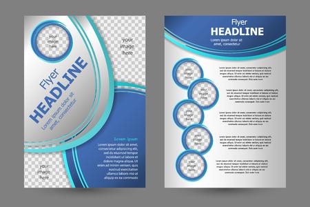 business card design: Vector flyer template design. For business brochure, leaflet or magazine cover