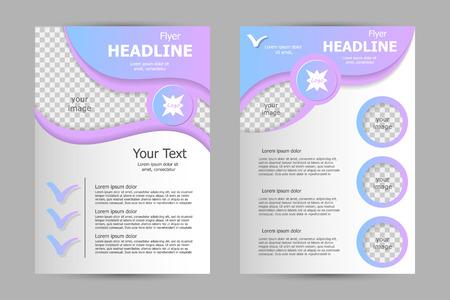 magazine design: Vector flyer template design. For business brochure, leaflet or magazine cover