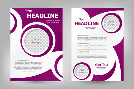 brochure cover: Vector flyer template design. For business brochure, leaflet or magazine cover