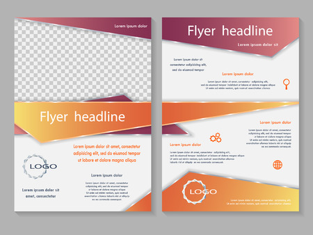 template design. For business brochure, leaflet or magazine cover