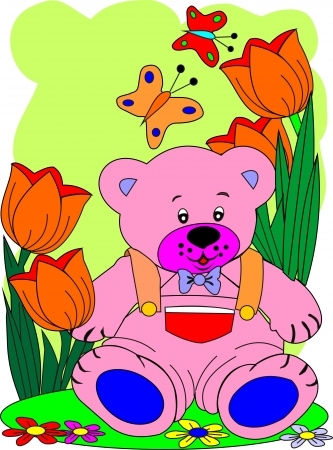 Toy-bear-cub  Illustration