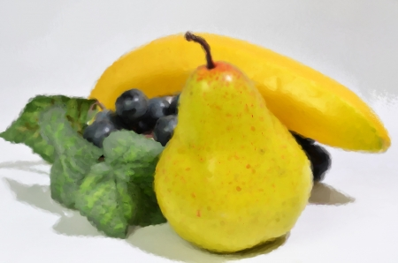 Coloured picture of fruit