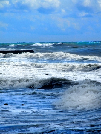 raging sea photo