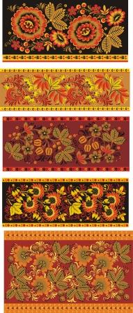 Four Ukrainian decorative  patterns
