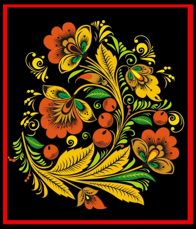 emigranti: Motivo decorativo da fiori