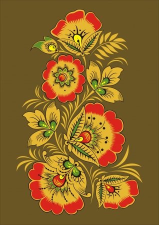 mainland: Decorative pattern from flowers Illustration