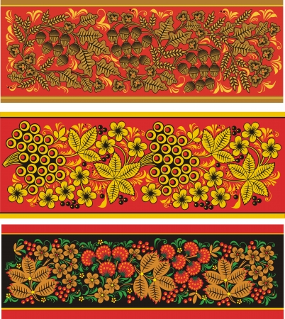Three Decorative pattern from flowers