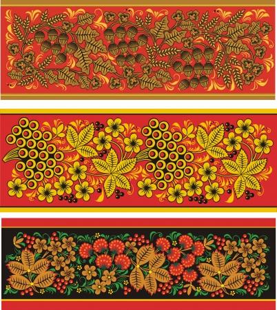 emigranti: Tre motivo decorativo da fiori