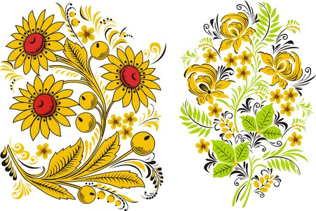 Two compositions of flowers Illustration
