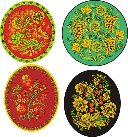Four decorative patterns