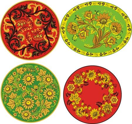Four decorative patterns