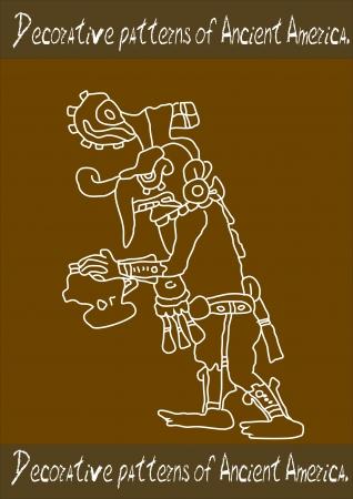 Decorative pattern of Ancient America