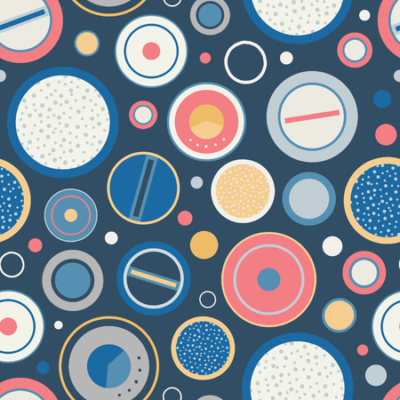 Vintage speakers dials seamless pattern background  イラスト・ベクター素材
