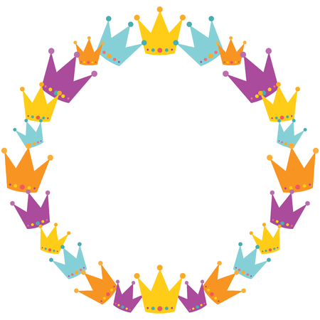 Vector Crowns Wreath. Perfect for scrapbooking, kids, stationary, and home decor projects