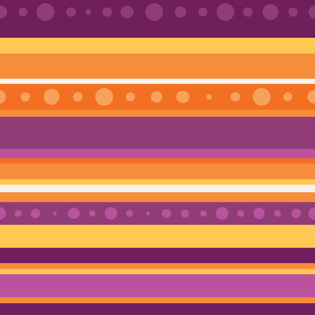 Vector Dotted Halloween Stripe Seamless Pattern. Surface Pattern Design perfect for fabric, scrapbooking, Halloween, kids, and home decor projects.