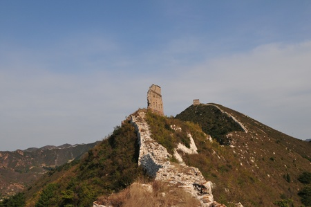 Ancient China Great Wall of original Stock Photo - 12093038