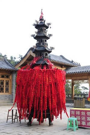 Chinese traditional building temples, pagodas prayers  Stock Photo - 12390107