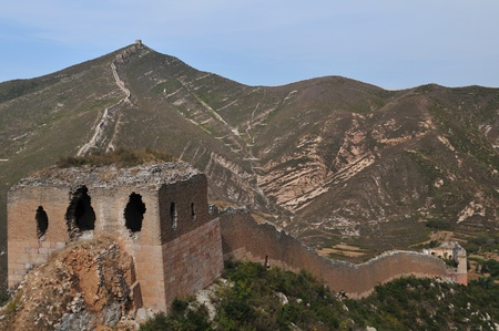 Wreck of the ancient Great Wall  Stock Photo - 12390125
