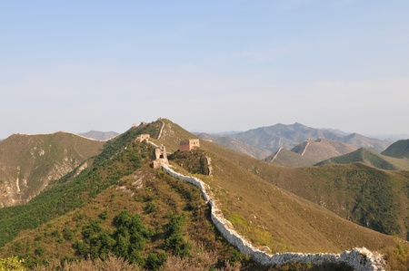 Wreck of the ancient Great Wall  Stock Photo - 12390123