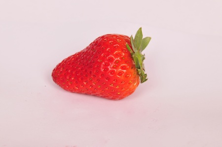 genera: Strawberries in the white background