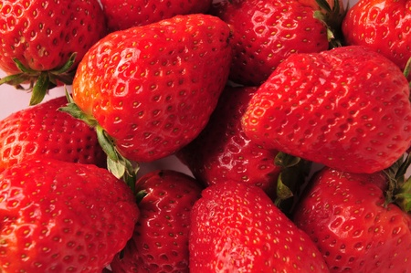 genera: Strawberries in the white background