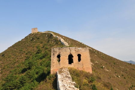 The Great Wall of the original in northern China photo