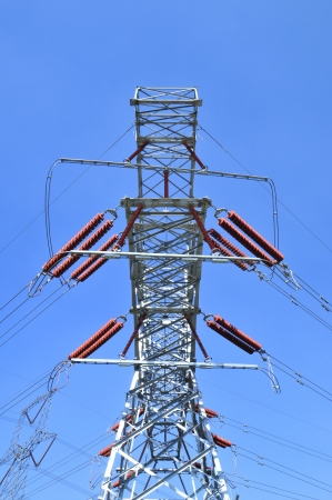 High voltage electric tower line  Stock Photo - 15922130
