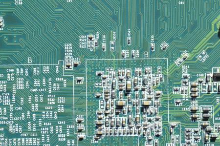 microprocessor: Macro filming a circuit board  Stock Photo