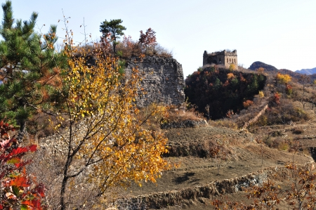 Autumn original the Great Wall Stock Photo - 17042853