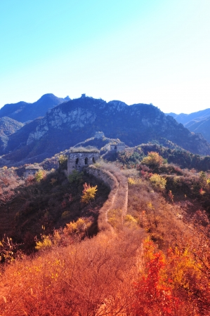 Autumn original the Great Wall Stock Photo - 17042505