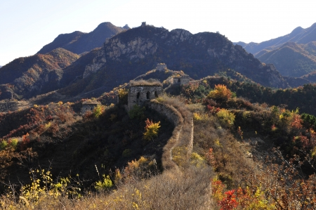 Autumn original the Great Wall Stock Photo - 17042506
