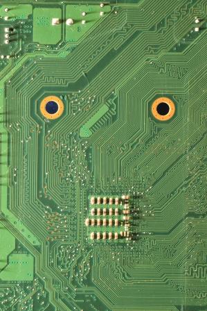 Macro filming a circuit board  Stock Photo