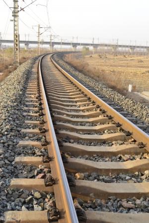 Railway of depth  Stock Photo - 17137512