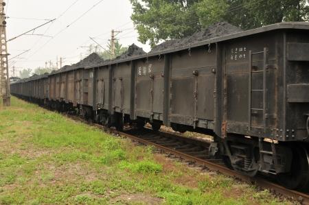 goods train: Full of goods train car