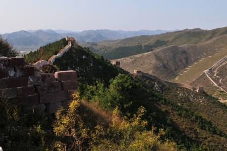defense facilities: The ancient Great Wall scenery