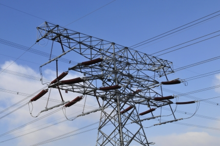 High voltage electric tower line Stock Photo - 17917824