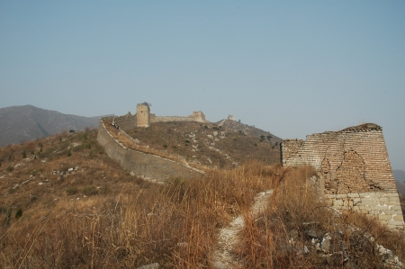 The Great Wall of the original in northern China  Stock Photo - 18646241