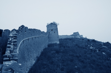 The north of the ancient Great Wall original, China  photo