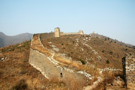 tumble down: The north of the ancient Great Wall original, China  Stock Photo