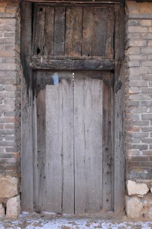The door of the old   photo