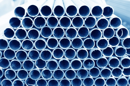 Layers of steel pipe