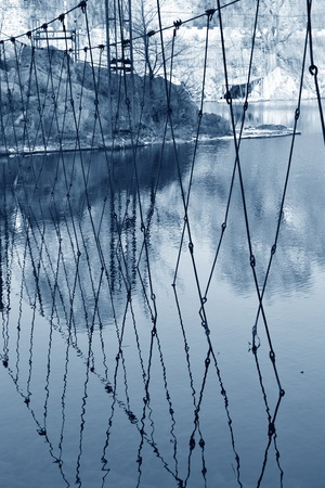 boundary cage in the water photo