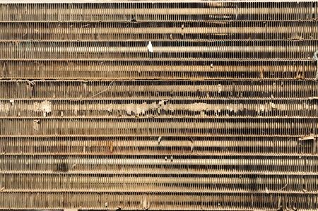radiador: viejo radiador  Foto de archivo