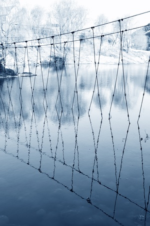 boundary cage in the water