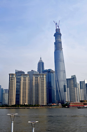 oriental pearl tower: The Oriental pearl tower, Shanghai world financial center jinmao tower and the Shanghai skyline Editorial