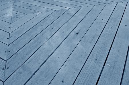 sidewalks: The wooden floor in the park Stock Photo