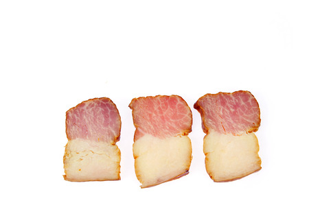 Bacon isolated on a white background photo