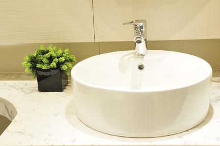 no heels: modern bathroom Stock Photo