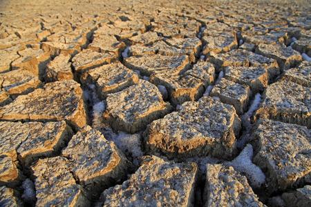 Dry cracked land photo