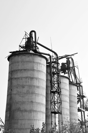 manufacturers: Abandoned cement manufacturers, industrial buildings Stock Photo